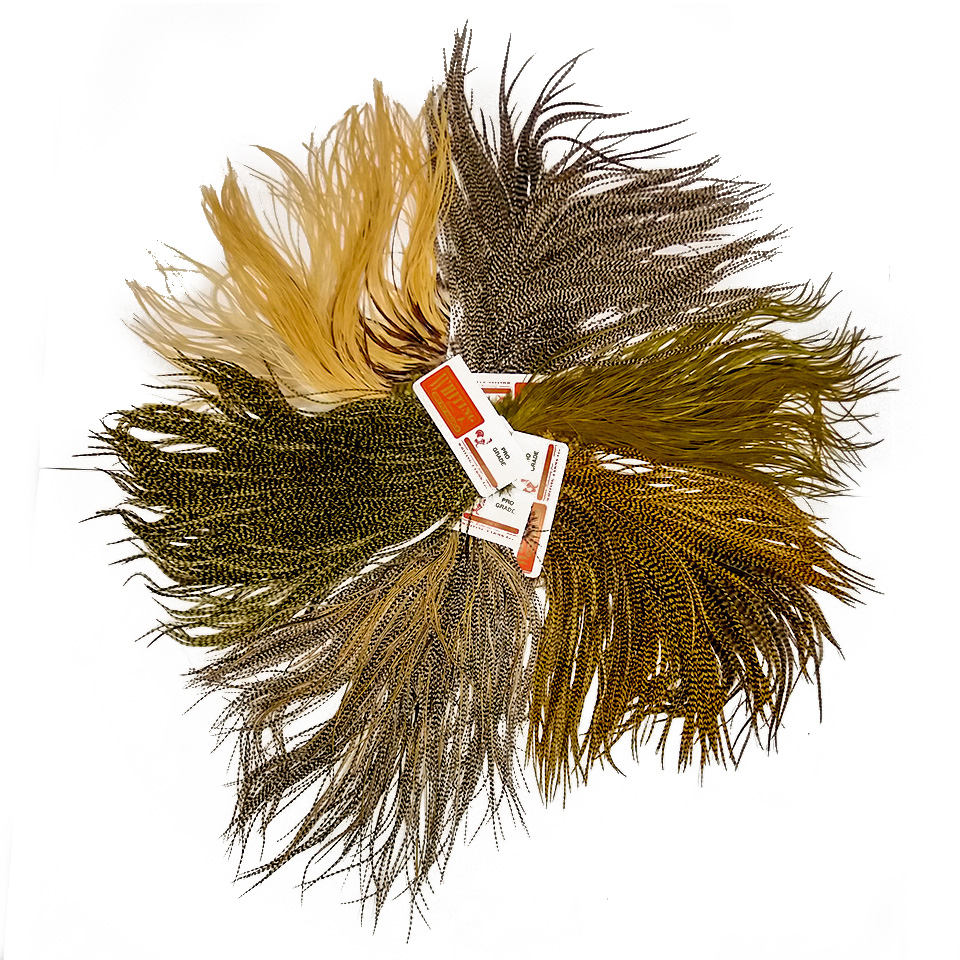 Fly Tying Whiting Silver Rooster Saddle White dyed Coachman Brown #A Angelsport-Fliegen-Bindematerialien